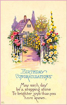 Image Result For Birthday Greetings Vintage