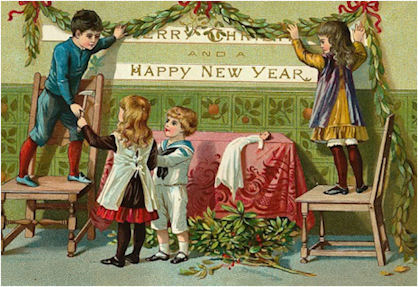 victorian and vintage new year cards