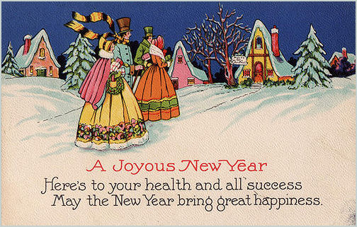 victorian and vintage new year cards and images
